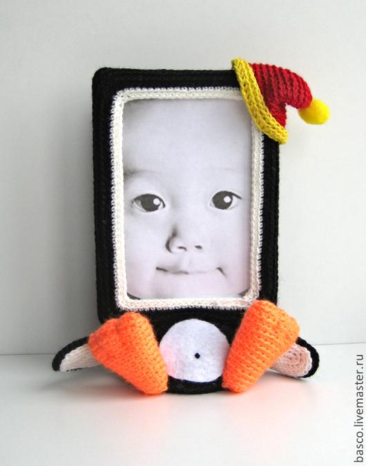 """Игрушки животные, ручной работы. Ярмарка Мастеров - ручная работа. Купить Фото рамка """"Пингвинчик"""". Handmade. Подарок, пингвин, девочке"""