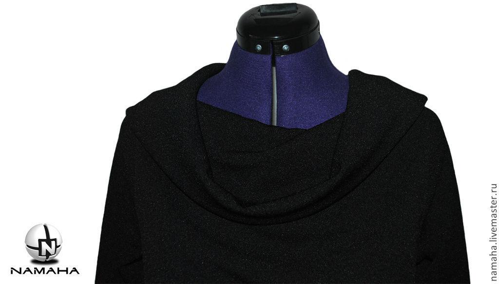 2da1c7fdb850 ... платье чёрное платье теплое платье стильное платье на весну платье на  осень чёрное платье на осень. Оригинальная модель от Rick Owens ...