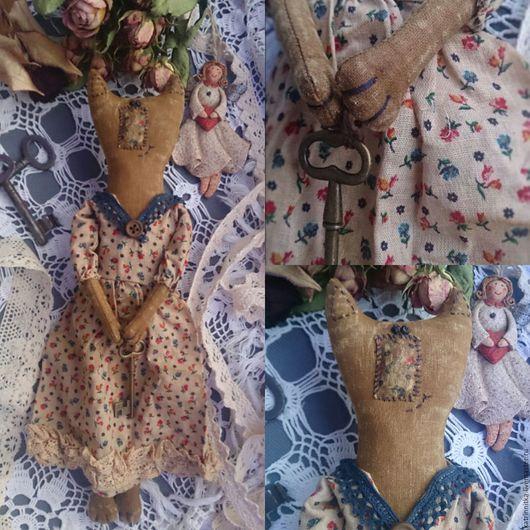 Ароматизированные куклы ручной работы. Ярмарка Мастеров - ручная работа. Купить Бэтти. Чердачная кошка. Handmade. Коричневый, Кошки, бусины
