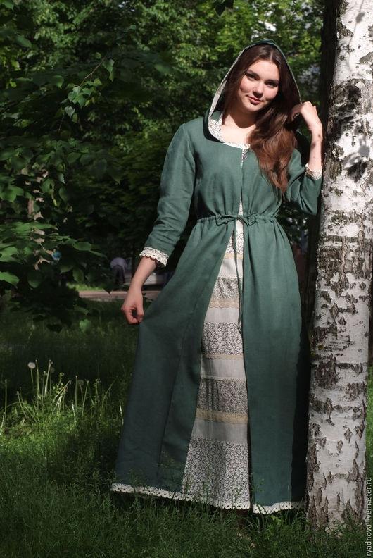 Платья ручной работы. Ярмарка Мастеров - ручная работа. Купить платье Степная полынь (в зеленом цвете). Handmade.