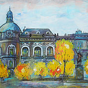 Картина городской пейзаж Красавица Прага