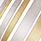 Материалы для творчества ручной работы. Ярмарка Мастеров - ручная работа Лента парчовая Золото и Серебро. Handmade.