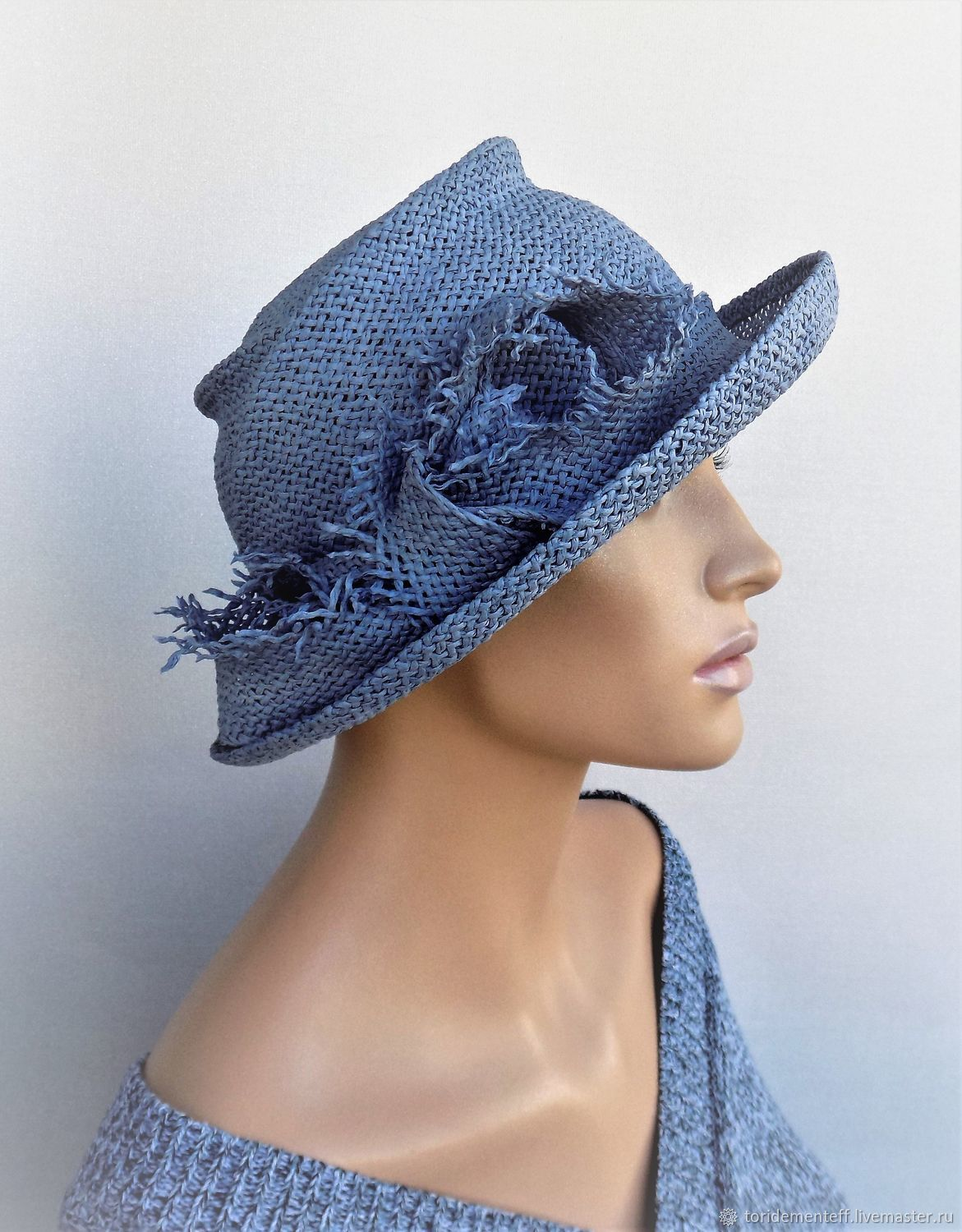 02a4b7c9a45b3f Fedoras & formal hats handmade. Livemaster - handmade. Buy Hat Sloudless  sky.