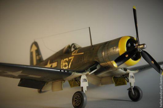 Подарки для мужчин, ручной работы. Ярмарка Мастеров - ручная работа. Купить Модель Chance Vought F4U-1D Corsair (1/48). Handmade.