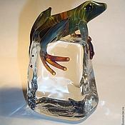 Статуэтки ручной работы. Ярмарка Мастеров - ручная работа Лягушки на кубике льда. Handmade.