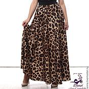 """Одежда ручной работы. Ярмарка Мастеров - ручная работа Роскошная леопардовая юбка """"Хищница"""" на широкой резинке. Handmade."""