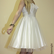Одежда handmade. Livemaster - original item Gentle dress on corsage. Handmade.