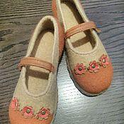 Обувь ручной работы. Ярмарка Мастеров - ручная работа Валяные туфли для девочки. Handmade.