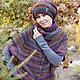 Пончо ручной работы. Пончо - Черноплодная рябина.. Knitted fashion by Ekaterina Bykova. Ярмарка Мастеров. Осень 2014, норо