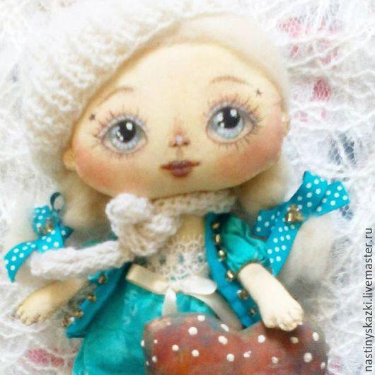Коллекционные куклы ручной работы. Ярмарка Мастеров - ручная работа. Купить Дарю тебе своё сердце! Текстильная куколка с сердечком.. Handmade.