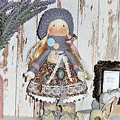 Куклы и пупсы ручной работы. Ярмарка Мастеров - ручная работа Кукла текстильная, серый, персиковый, винтаж. Handmade.