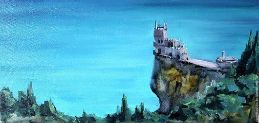 """Натюрморт ручной работы. Ярмарка Мастеров - ручная работа. Купить """"ЛАСТОЧКИНО ГНЕЗДО"""" холст/масло. Handmade. Комбинированный, пейзаж, холст на подрамнике"""