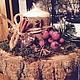 """Новый год 2017 ручной работы. Новогодняя композиция """"Зимний лес"""". Дизайн-мастерская EcoShiningHome (eco2014). Интернет-магазин Ярмарка Мастеров."""