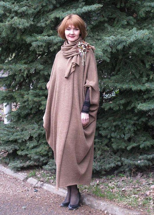 """Верхняя одежда ручной работы. Ярмарка Мастеров - ручная работа. Купить Вязанное пальто """"Афина -2"""". Handmade. Коричневый"""
