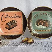 """Посуда ручной работы. Ярмарка Мастеров - ручная работа Набор декоративных тарелок """"Жизнь в шоколаде"""". Handmade."""