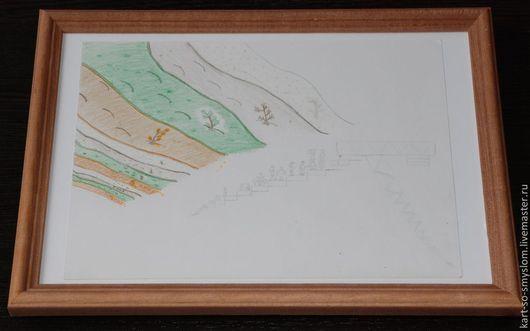 Люди, ручной работы. Ярмарка Мастеров - ручная работа. Купить Картинки со смыслом: №7 - В ожидании будущего (карандаш, бумага). Handmade.