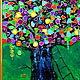 Фантазийные сюжеты ручной работы. Дуб Желаний Картина на стекле. Юлия-Yulitaya. Ярмарка Мастеров. Удача, эксклюзивный подарок