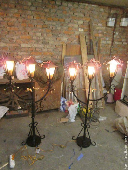 Освещение ручной работы. Ярмарка Мастеров - ручная работа. Купить светильник напольный( кованый торшер). Handmade. Ковка, торшер