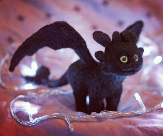 Сказочные персонажи ручной работы. Ярмарка Мастеров - ручная работа. Купить Дракон Чёрная фурия из мультфильма Как приручить дракона. Handmade.