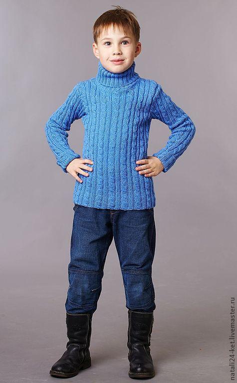 Одежда для мальчиков, ручной работы. Ярмарка Мастеров - ручная работа. Купить детская водолазка 2. Handmade. Синий, водолазка, свитер