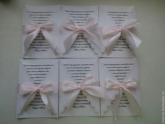 Свадебные открытки ручной работы. Ярмарка Мастеров - ручная работа. Купить Приглашение на свадьбу. Handmade. Разноцветный, свадьба, картон