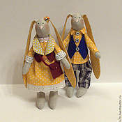 Куклы и игрушки ручной работы. Ярмарка Мастеров - ручная работа Тильда зайки маленькие. Handmade.