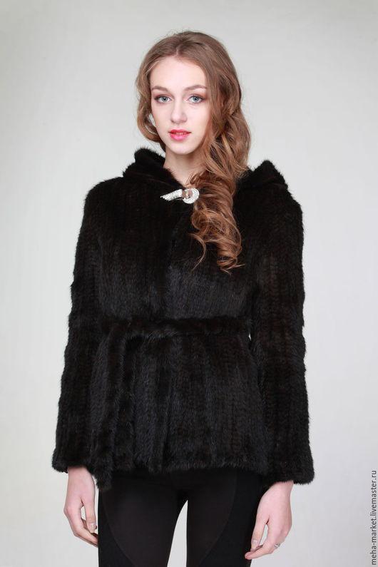 Куртка из вязаной норки `Фора`