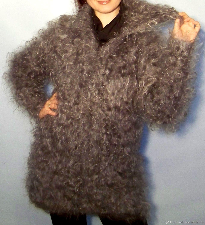 JACKET CARDIGAN DOWN collar 'DOWN CHIC' Uryupinsk goats fluff, Cardigans, Urjupinsk,  Фото №1