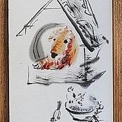 Картины и панно ручной работы. Ярмарка Мастеров - ручная работа Рыжий пёс в будке. Handmade.