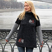 Одежда handmade. Livemaster - original item Sweater architectural