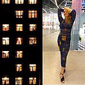 """Одежда ручной работы. Ярмарка Мастеров - ручная работа Платье """"Ночные окна Хундертвассера""""-6. Handmade."""