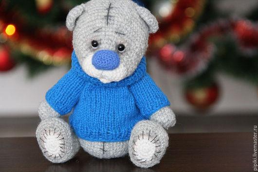 Мишки Тедди ручной работы. Ярмарка Мастеров - ручная работа. Купить Мишка в свитере. Handmade. Серый, мишка-тедди, подарок