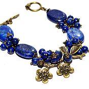 Украшения handmade. Livemaster - original item Bracelet made of lapis lazuli
