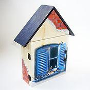 """Для дома и интерьера ручной работы. Ярмарка Мастеров - ручная работа Ключница """"Счастье в дом"""". Handmade."""