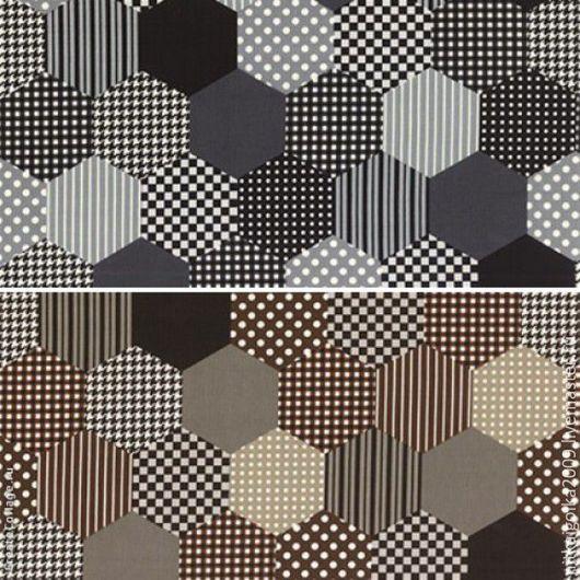 Шитье ручной работы. Ярмарка Мастеров - ручная работа. Купить Ткань для пэчворка MODERN QUILT (два вида). Handmade. Ткань