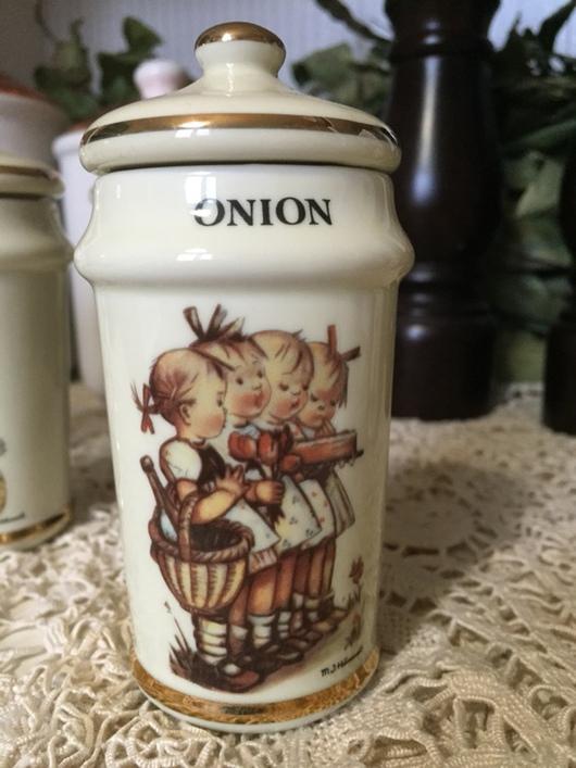 Винтажная посуда. Ярмарка Мастеров - ручная работа. Купить Коллекционные баночки для специй Hummel. Handmade. Коллекция, фарфор, дерево