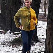 """Одежда ручной работы. Ярмарка Мастеров - ручная работа Жакет валяный """"Дыхание осени"""". Handmade."""