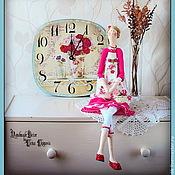 """Куклы и игрушки ручной работы. Ярмарка Мастеров - ручная работа Набор """"Утренние розы"""": цветочная фея и настенные часы.. Handmade."""