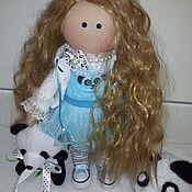 Куклы и игрушки ручной работы. Ярмарка Мастеров - ручная работа Текстильная кукла Пандочка Люся. Handmade.