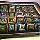 """Текстиль, ковры ручной работы. Ярмарка Мастеров - ручная работа. Купить """"Тотем"""" лоскутное одеяло. Handmade. Разноцветный, индейцы, медведь"""