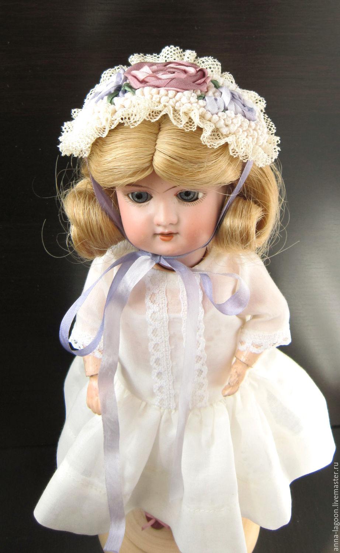 Одежда для кукол ручной работы. Ярмарка Мастеров - ручная работа. Купить Шляпка для антикварной или БЖД куклы. Handmade. боннет