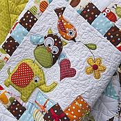 Для дома и интерьера ручной работы. Ярмарка Мастеров - ручная работа Детское лоскутное одеяло на заказ (цена за квадратный метр изделия). Handmade.