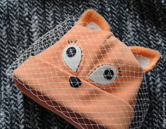 """Комплекты аксессуаров ручной работы. Ярмарка Мастеров - ручная работа. Купить Комплект трикотажный """"Плутовка"""": шапка с вуалью, шарф, брошь. Handmade."""
