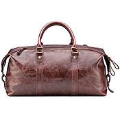 Сумки и аксессуары handmade. Livemaster - original item Leather travel sport bag (antique brown). Handmade.