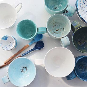 Посуда ручной работы. Ярмарка Мастеров - ручная работа Стиль моря. Handmade.