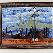 """Для дома и интерьера ручной работы. Ярмарка Мастеров - ручная работа Панно """"Венеция""""-фьюзинг. Handmade."""
