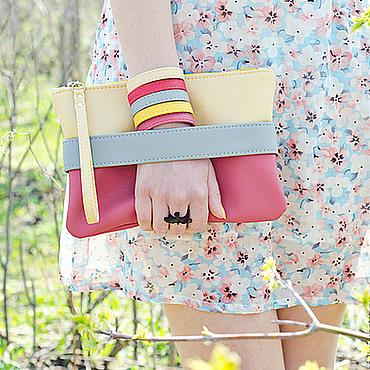 Сумки и аксессуары ручной работы. Ярмарка Мастеров - ручная работа Розовый клатч - сумочка через плечо CarryMe. Маленькая сумочка. Handmade.