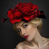 Аксессуары handmade. Livemaster - original item Rose hat from the skin of the Mysterious stranger. Decoration leather.. Handmade.