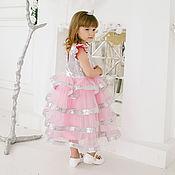 Платья ручной работы. Ярмарка Мастеров - ручная работа Детское нарядное платье с пайетками. Handmade.