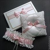 Свадебный салон ручной работы. Ярмарка Мастеров - ручная работа Набор свадебных аксессуаров нежно-розовый. Handmade.